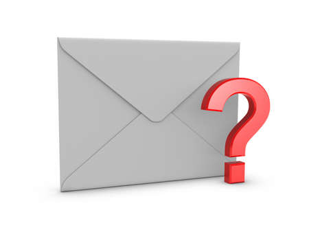 junk mail: Mail with Question Mark Stock Photo