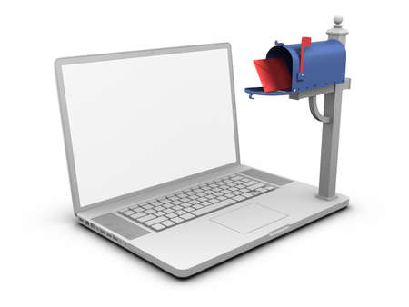 Laptop - Mailbox. Stock Photo - 10033751
