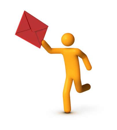 Delivering Envelope. photo