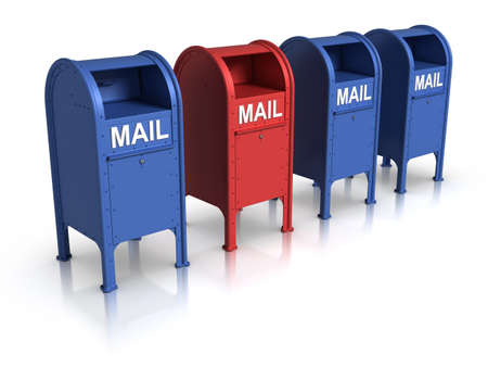 Row of Mailbox. Stock Photo - 10033754