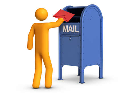 Sending  letter. Stock Photo - 10033748