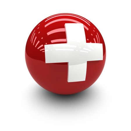zwitserland vlag: 3D - Vlag van Zwitserland