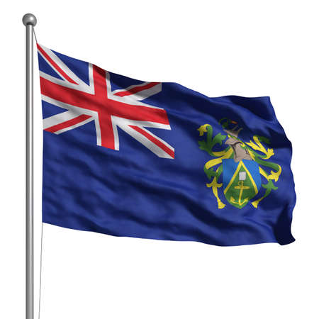 pitcairn: Flag of Pitcairn Islands. Rendered with fabric texture (visible at 100%). Clipping path included.