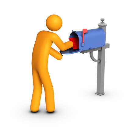 Getting mail Stock Photo - 10033765