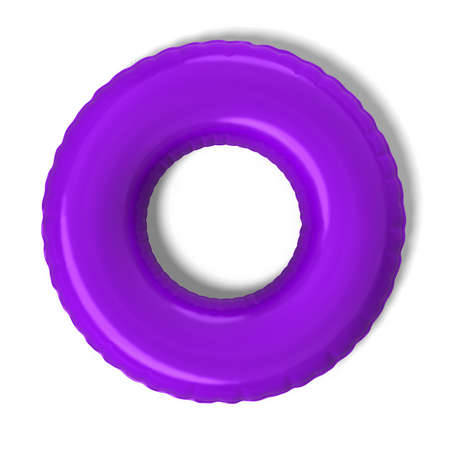 float tube: 3d rendered inner tube on white background.
