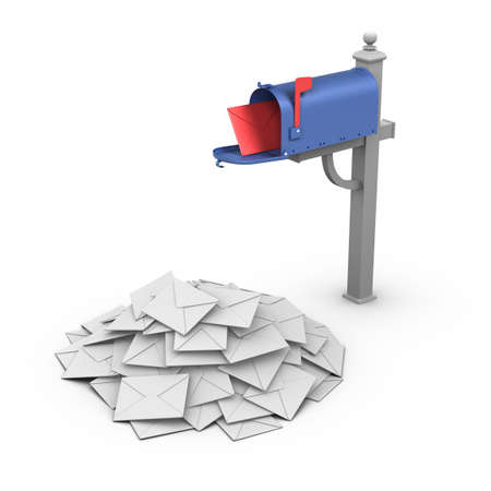 Mailbox - Spam. Stock Photo - 10033918