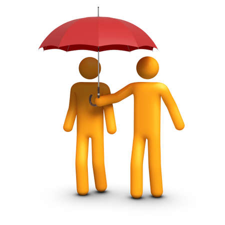 holding umbrella Stock Photo - 10097615