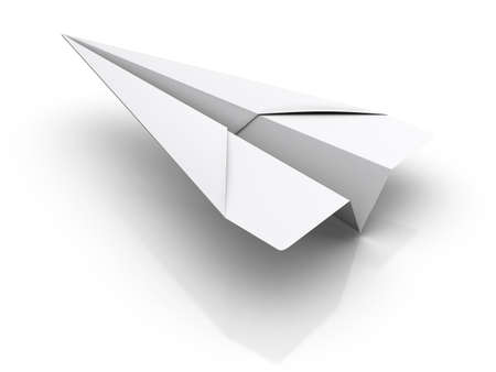 model airplane: Paper Airplane Stock Photo