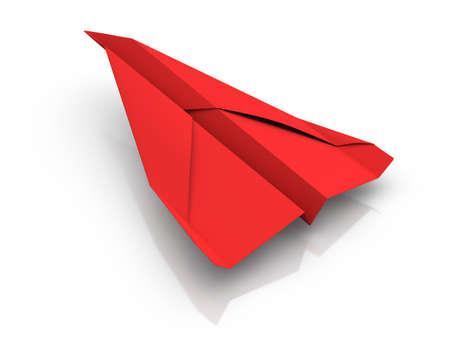 papierflugzeug: Rote Papierflieger
