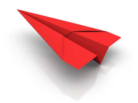 papierflugzeug: Red Paper Airplane