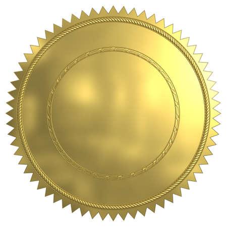 certificado: Sello de oro