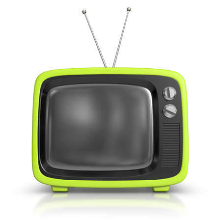 Green Retro TV Stock Photo - 10259624