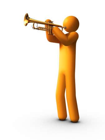 brass instrument: Trumpet Player