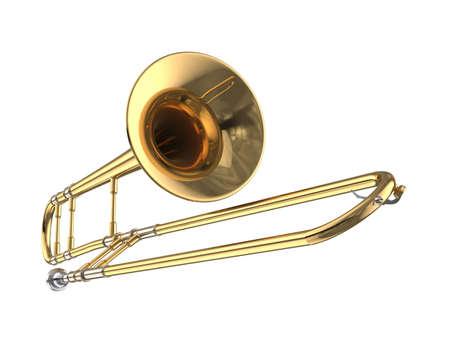 Trombone. Stock Photo