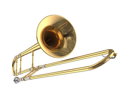trombone: Trombone. Stock Photo