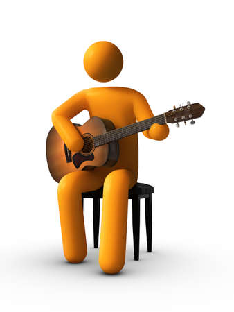 Playing Acoustic Guitar photo