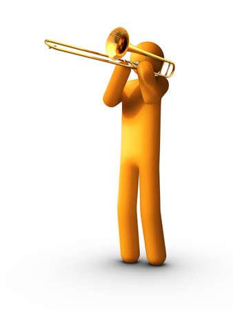 brass instrument: Playing Trombone