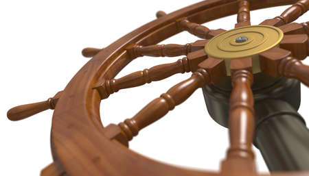 Ship steering wheel photo