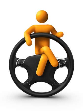 manejando: Sentado en el volante.
