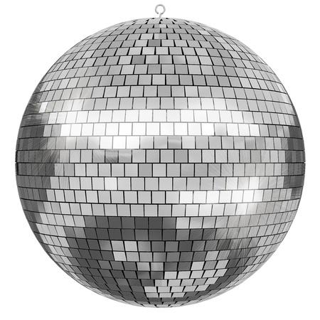 disco mirrorball: 3D rendered Disco Mirrorball on white background. Stock Photo
