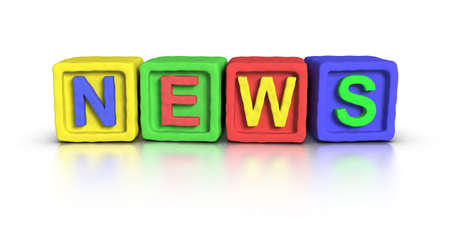 historic world event: 3D word NEWS made with plasticine material play block.