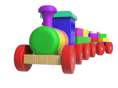 christmas train: Wooden Toy Train