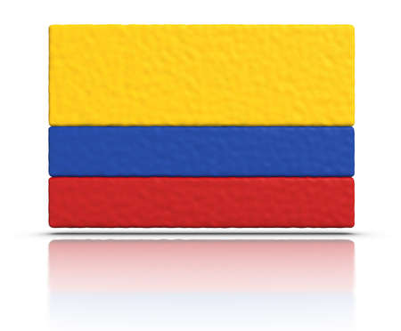 colombia flag: Flag of Colombia made with plasticine material. Stock Photo