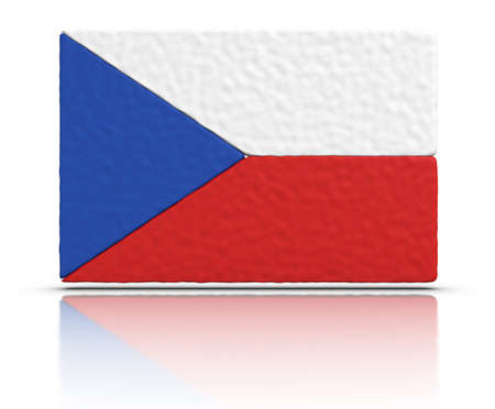czech culture: Flag of the Czech Republic made with plasticine material.