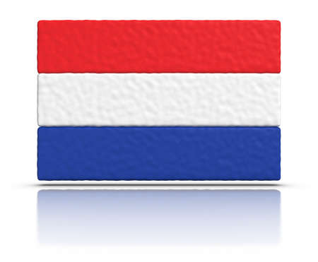 dutch flag: Flag of The Netherlands made with plasticine material.