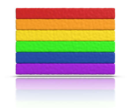 gay pride flag: Gay Pride  Rainbow Flag made with plasticine material.