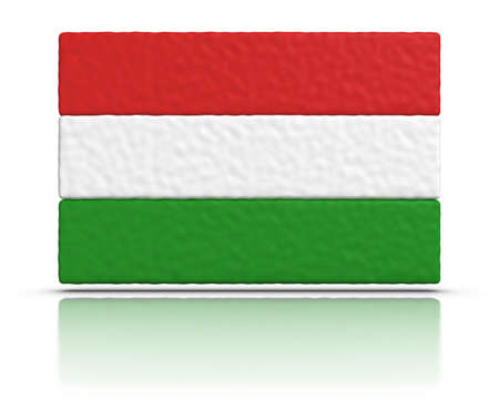 Flag of Hungary made with plasticine material. photo