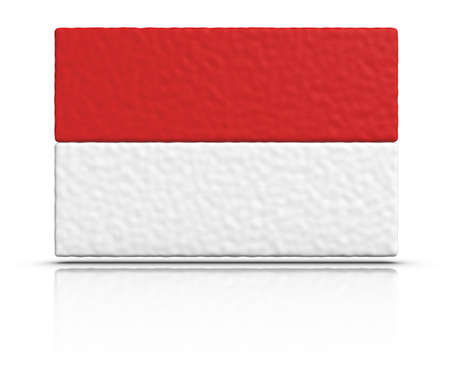 Flag of Indonesia made with plasticine material. photo
