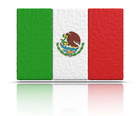 bandera mexicana: Bandera de México hecho con material de plastilina.