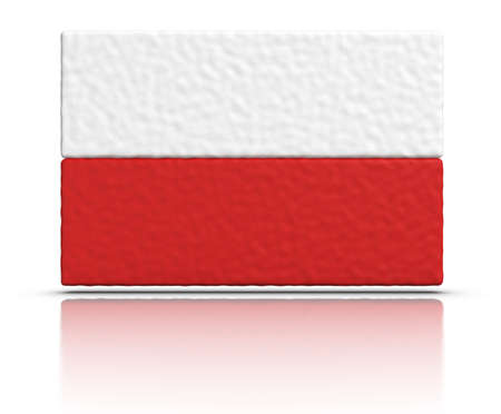polish flag: Flag of Poland made with plasticine material.