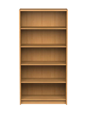 Empty bookshelf - isolated  Stock Photo - 12728455