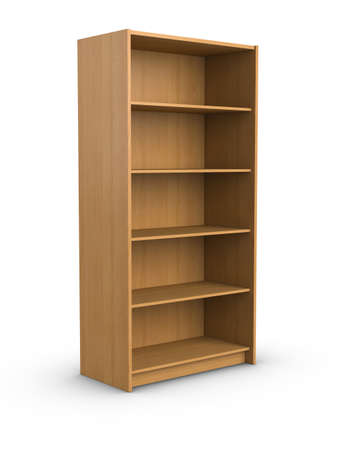 Empty bookshelf photo