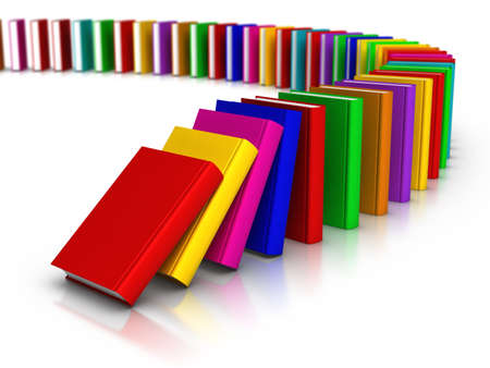 Row of colourful books Stock Photo - 12728447