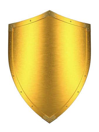 3d shield: Gold Shield