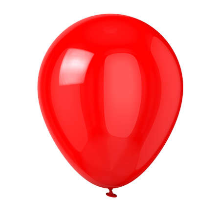 red balloon: Balloon isolated on white background