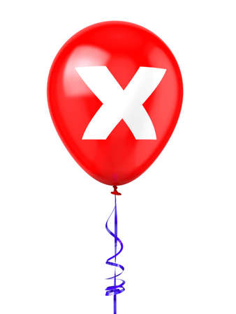 cancel: Balloon with Cancel Sign