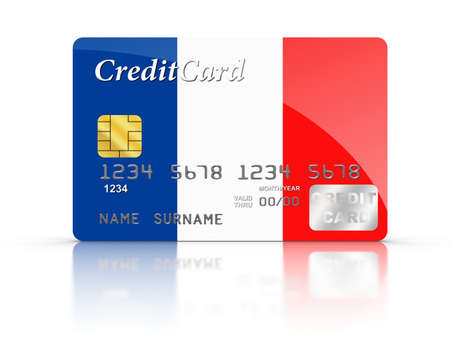Credit Card covered with  French flag. Stock Photo - 15789812