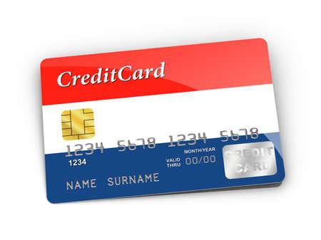 dutch flag: Credit Card covered with  Dutch flag.