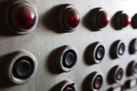 tablero de control: Panel de control viejo Foto de archivo