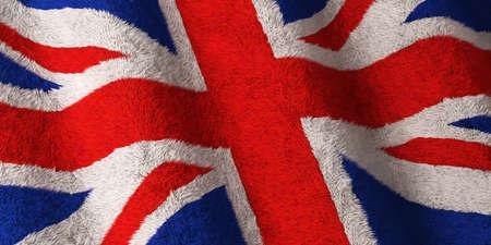 Fluffy British flag photo