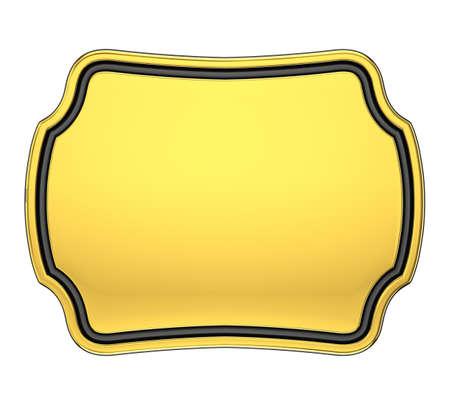 memorial plaque: Gold Plaque Stock Photo