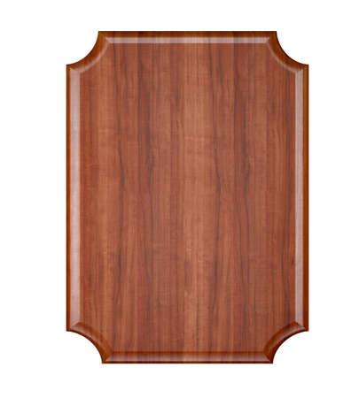 memorial plaque: Wood plaque