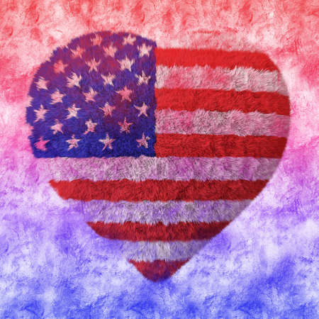 fluffy heart - American Flag Stock Photo - 21646039