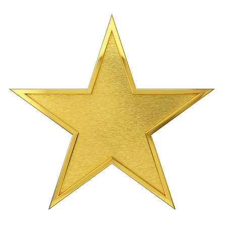 star: Brushed Golden Star Award Stock Photo