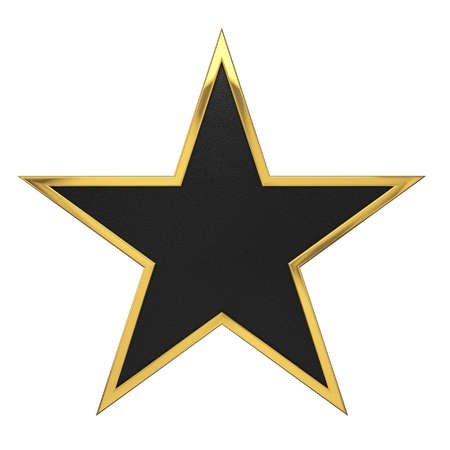 Golden Star Award with Black Blank Space photo