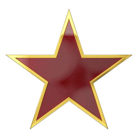 Golden Star Award with Red Car painted Blank Space Stock Photo - 21646044